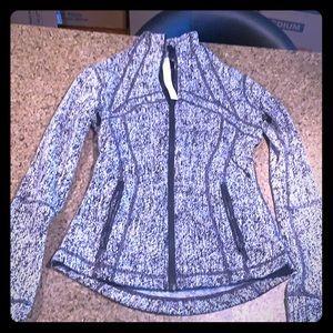 Lulu Lemon black/white zip up women's jacket